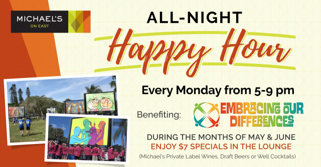Monday Happy Hour Supports Embracing our Differences!