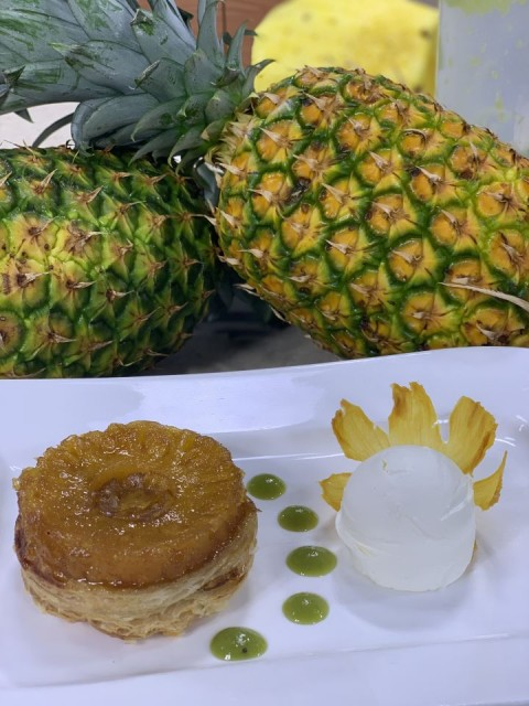 Pineapple-tart-tatin