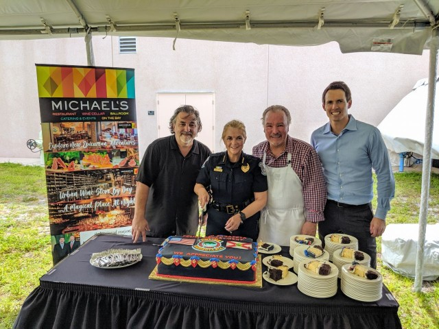 Michael's On East Surprises Sarasota Police Department