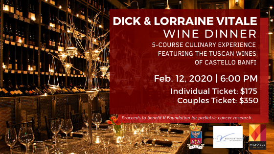 Michael's On East Hosts Dick Vitale Wine Dinner to Benefit the V Foundation
