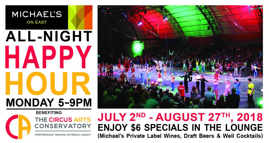 Monday Happy Hour Supports Circus Arts Conservatory