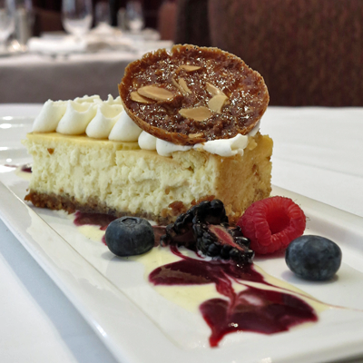 Goat cheese cake from Provence dessert menu
