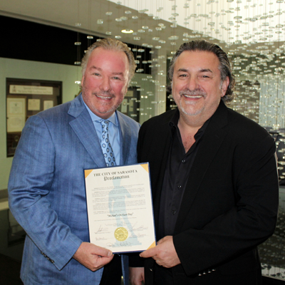City of Sarasota Proclamation Michael Klauber Phil Mancini 30th