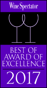 Wine Spectator - Best of Award of Excellence - 2017