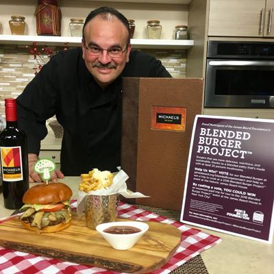 Blended Mushroom Burger - Chef Jamil