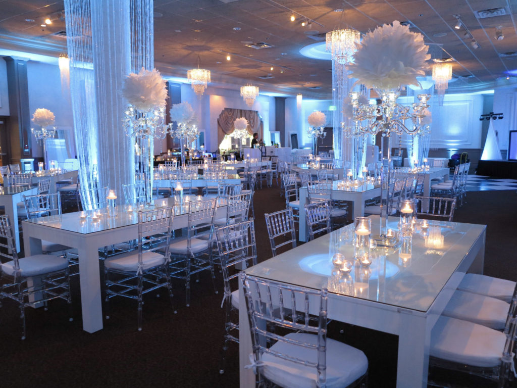 White event in ballroom
