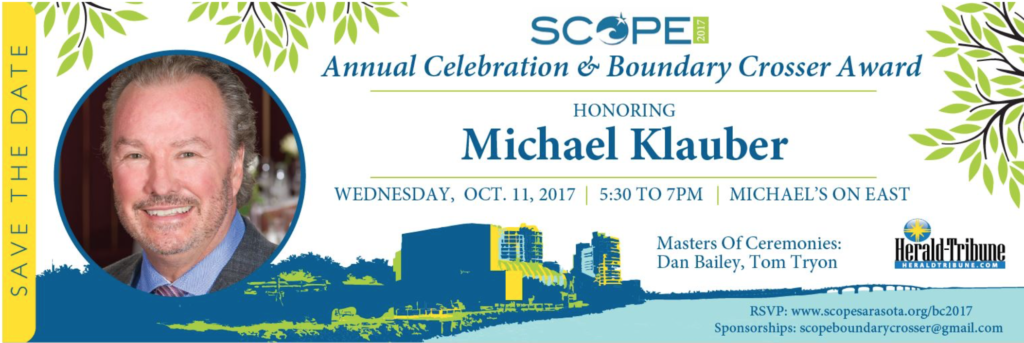 Michael Klauber Named SCOPE Boundary Crosser