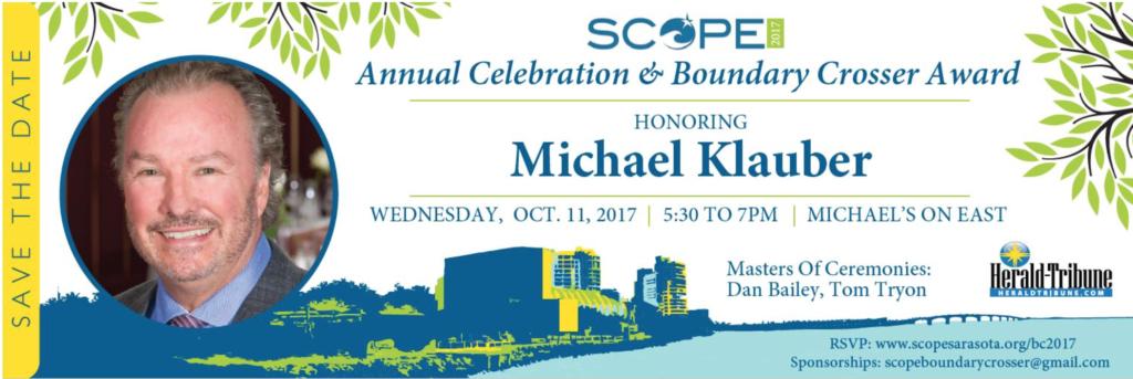 Michael Klauber Named SCOPE Boundary Crosser
